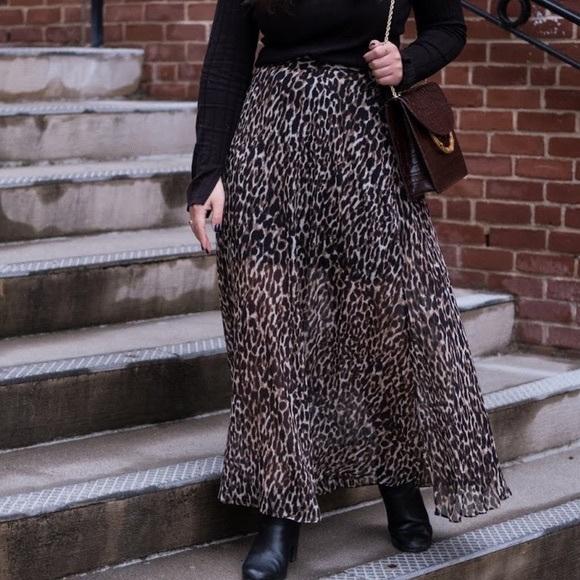 Banana Republic Leopard Maxi Skirt